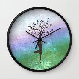 Yoga Tree Pose Wall Clock