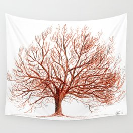 Lonely tree in autumn Wall Tapestry
