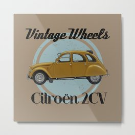 Vintage Wheels: Citroën 2CV Metal Print