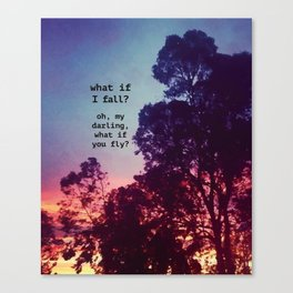 What If I Fall? Canvas Print