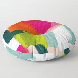 abstract pink art Floor Pillow