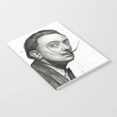 Salvador Dali Watercolor Portrait Notebook