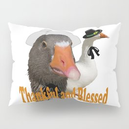 Thankful and Blessed Thanksgiving Pilgrims Pillow Sham