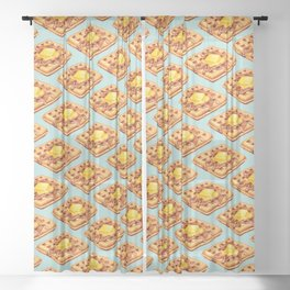 Waffle Pattern Sheer Curtain