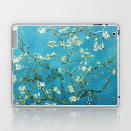 Vincent van Gogh Blossoming Almond Tree (Almond Blossoms) Light Blue Laptop & iPad Skin