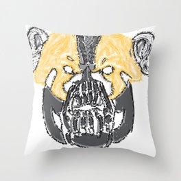 I Will Break You Panda Throw Pillow