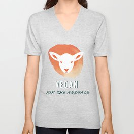 Vegan for the Animals Unisex V-Neck
