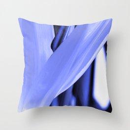 Strelitzia Reginae (Blue version) Throw Pillow