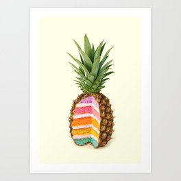 PINEAPPLE CAKE Art Print