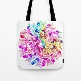 mandala rainbow pattern Tote Bag