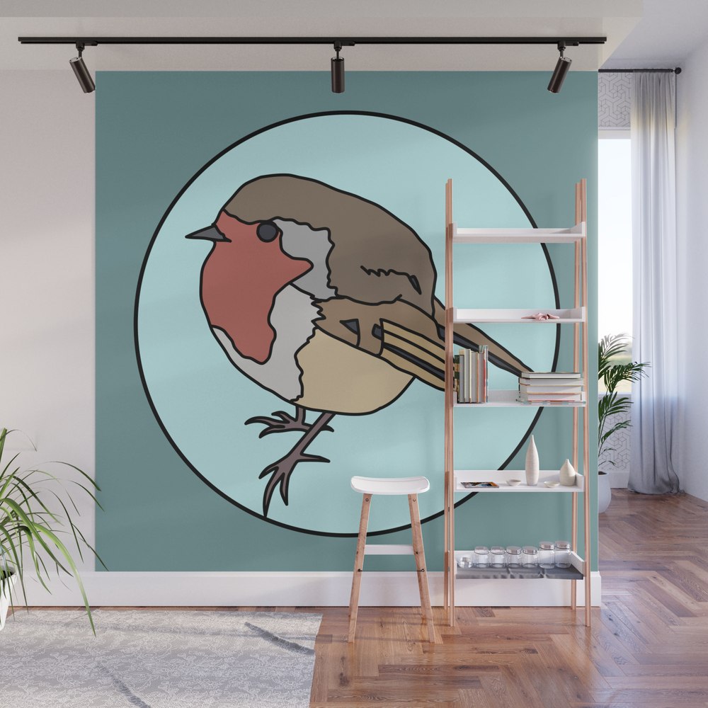 Robin - Robin Redbreast Wall Mural by Mothpathtags (WMP8909815) photo