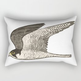 Flying Falcon Colored Pencil Art Rectangular Pillow