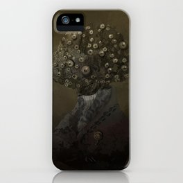 Portrait of a Mad Man iPhone Case