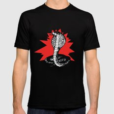 SNAKE 2 Mens Fitted Tee LARGE Black