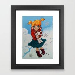 Boots & Bunny Framed Art Print