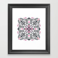 Winter Graphic Folk Art Pattern Framed Art Print