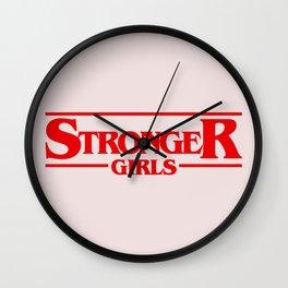 Stronger Girls Wall Clock