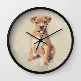 American staffordshire terrier puppy Sketch Paint Wall Clock