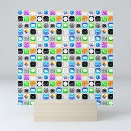 Phone Apps (Flat Design - small scale) Mini Art Print