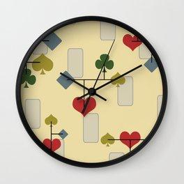 Atomic Era Card Suite Art Wall Clock