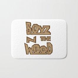 boyz n the wood Bath Mat