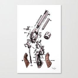 Exploded Gun Canvas Print