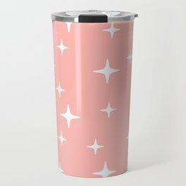 Mid Century Modern Star Pattern 443 Peach Travel Mug