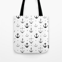 anchor Tote Bags featuring Anchor by Miriam Sironi