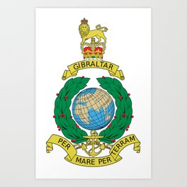 Cap Badge of Royal Marines  Art Print