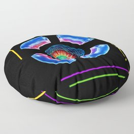 Abstract in Perfection - Magic of the colors Floor Pillow