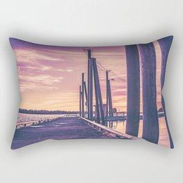 Water Sunset at the Dock Rectangular Pillow
