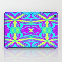 psychedelic iPad Cases featuring psychedelic Floral Fuchsia Aqua by 2sweet4words Designs