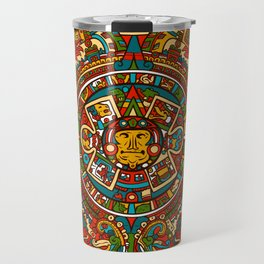 Aztec Mythology Calendar Travel Mug