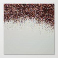Glitter Sparkle Confetti Rainbow Party Canvas Print
