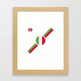 Italian flag soccer team jersey Framed Art Print