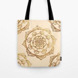 Gold & Cream Mandalas Tote Bag