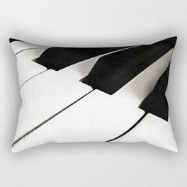 White Keys Rectangular Pillow