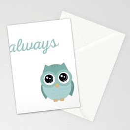 Owl Always Love You, Couples Tee, Valentine Shirt, Funny Love Pun, Owl Art, Owl Gifts Stationery Cards