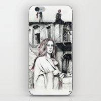 les miserables iPhone & iPod Skins featuring Les Miserables Portrait Series - Fantine by Flávia Marques