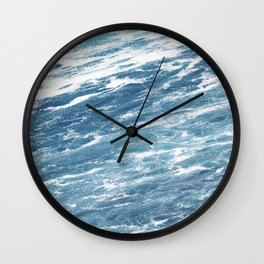 Ocean Water Waves Foam Texture Wall Clock