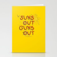 guns Stationery Cards featuring Guns Out by Free Specie