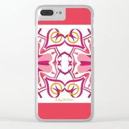 Lyrical Love Mandala x 2 - Pink Gold Clear iPhone Case
