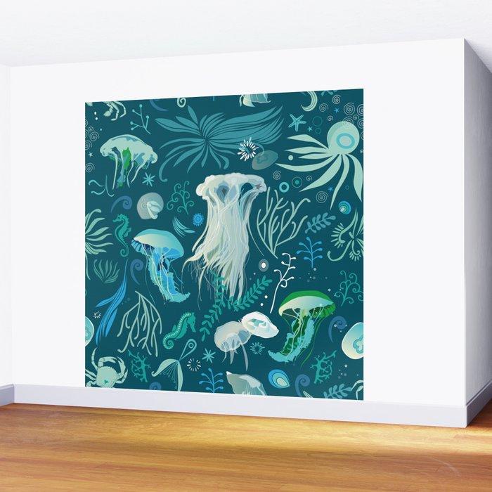 Aqua pattern Wall Mural