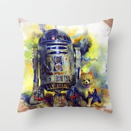 R2D2 and his little buddy Throw Pillow