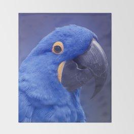 Blue Hyacinth Macaw - Anodorhynchus hyacinthinus - Puohokamoa Hoolawa Maui Hawaii Throw Blanket