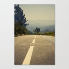 anywhere is an adventure with you Canvas Print