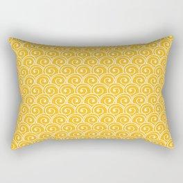 Yellow Sea Waves Rectangular Pillow