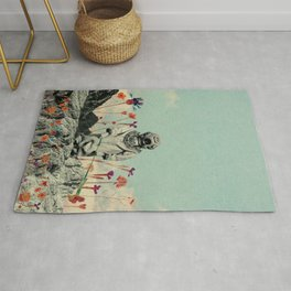 Lonely Diver Rug