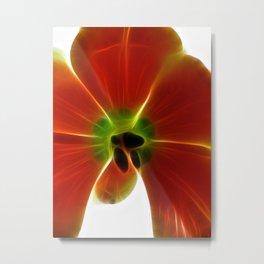 Fractal Tulip Metal Print