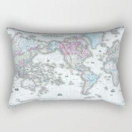 Vintage World Map 1855 Rectangular Pillow